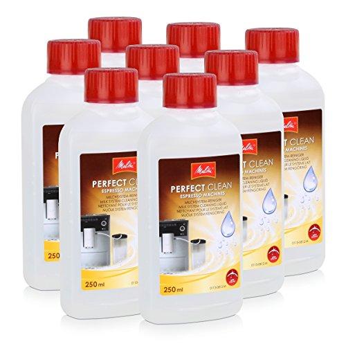 Cappuccino Plus Espressomaschine (Melitta Perfect Clean Milch System Reiniger, 8 x 250ml)