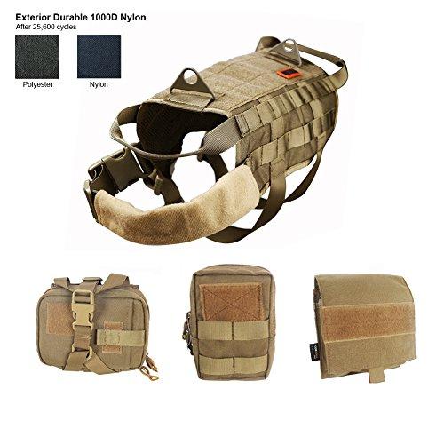 OneTigris - Imbracatura per addestramento cani con sistema Molle, completa
