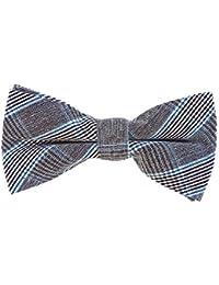 DonDon Pajarita de algodón para hombre 12 x 6 cm de tweed look ajustable y lista