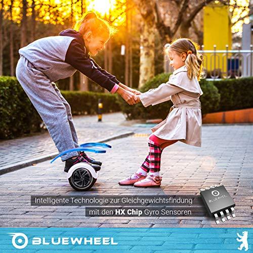 Testsieger 6.5″ Hoverboard Bluewheel HX320 mit UL2272 Sicherheitsstandard – Kinder Sicherheitsmodus mit App – Bluetooth Lautsprecher – 700W Motor – LED – Elektro Scooter Self-Balance E-Skateboard - 6