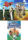 Three Strikes Baseball Movies Boy Sandlot + Bad News Bears & Disney Angels in the Outfield Kids Sport Family Triple feature Bundle 3 Pack