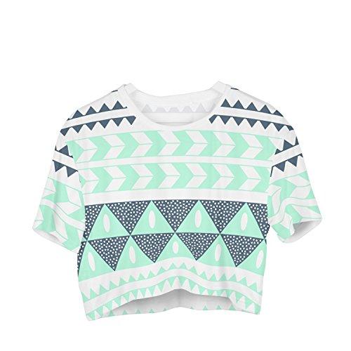 Fringoo Damen T-Shirt mehrfarbig mehrfarbig One size Aztec Turquoise - Tee