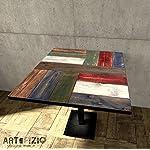 Tavolo da bar in legno realizzato con legno riciclato (listoni di pallet)