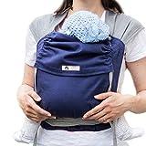 LIMAS Babytrage BIO-Baumwolle, wendbare Bauch-, Rücken- und Hüfttrage - Blau/Grau