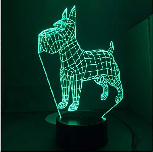 Standard Airedale Irish Terrier Hund 3D Lampe 7 Farben Ändern Schreibtischlampe Neuheit Led Nachtlichter Led Licht