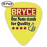 Celluloid Guitar Picks Best Gift For Guitarist Bass Guitar Plectrums,Print Bryce,0.46mm/0.73mm/0.96mm,12 Pack