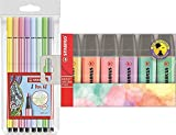 STABILO BOSS ORIGINAL Textmarker Pastel Fasermaler + Marker (14er Pack)