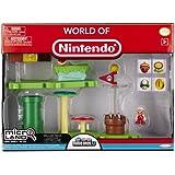 Mario Bros - World of Nintendo Micro Land Playset Deluxe: Acorn Plains with Fire Mario figura (Jakks Pacific JAKKNIN020APFM)