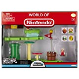 Nintendo JAKKNIN020APFM - World of Micro Land Playset Deluxe - Acorn Plains mit Fire Mario Figure