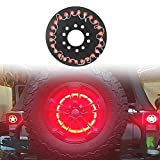 SinceY Bremslicht-Plattenumbauzubehör für Jeep Wrangler 25 Lampenkorne Ersatzreifen LED-Bremslicht-Rücklichter Dekorative Lichter, verwendet für Jeep Wrangler Jk Third Brake Light