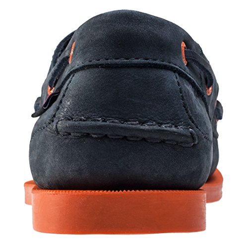 COMPASS II G2 bleu marine/semelle orange - Chaussures bateau homme CHATHAM Navy Orange