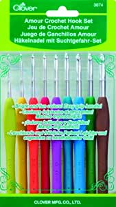 Clover Amour Crochet Hook Set 1 Amazoncouk Kitchen Home