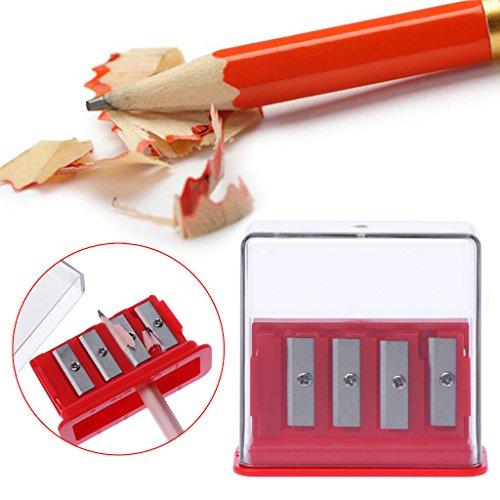 Exing temperamatite rosso con 4fori, forniture scolastiche di disegno di regali di cancelleria per ufficio per l' studente