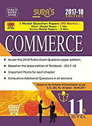 11th Standard (New Pattern) Commerce Exam Guide 2017 with Model Question Papers
