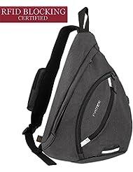 Sling Bag Waterproof, PRITEK Crossbody Backpack Ultralight Versatile Chest Daypack,Anti-Theft Over Shoulder Travel Rucksack Pack Bag for School Hiking Camping Cycling Boys Men and Women