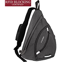 Sling Bag Waterproof, PRITEK Crossbody Backpack Ultralight Versatile Chest Daypack,Anti-Theft Over Shoulder Travel Rucksack Pack Bag for School Hiking Camping Cycling Boys Men and Women