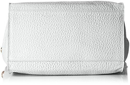 Chicca Borse Damen 8622 Schultertasche, 46x34x16 cm Bianco (White)