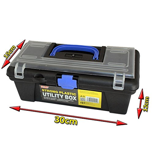 Strong Plastic Utility Organizer Chest Box Handle Fishing Tackle Diy Tool Garage (Utility-organizer-box)