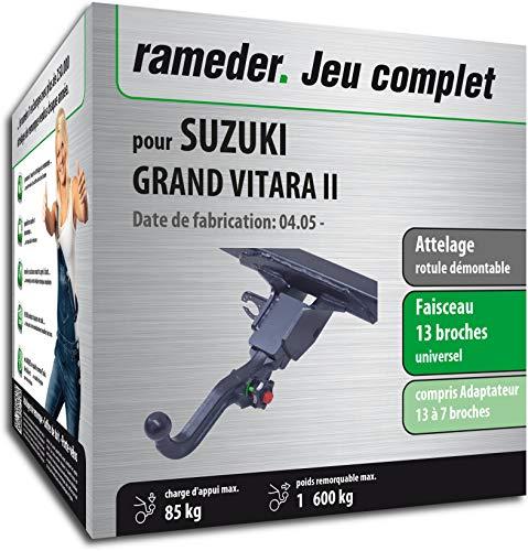 Rameder Attelage rotule démontable pour Suzuki Grand Vitara II + Faisceau 13 Broches (162601-05489-1-FR)