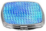 Rikki Knight Compact Mirror, Glassy Blue Circles