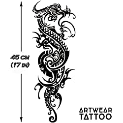 "Tatuaje temporal realizado por un artista ""Maori Dragon Sleeve"" - ArtWear Tattoo - SLEEVE031 XL"