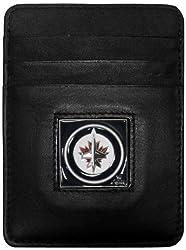 NHL Winnipeg Jets Genuine Leather Money Clip/Cardholder Wallet