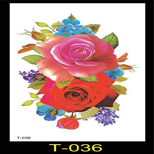 tzxdbh 3Pcs-New Mädchen Concealer Tattoo Aufkleber wasserdicht Schmetterling Blumen Lotus Blume Arm gebrochen Bauch Produktion Kostüm Fotostudio 3Pcs-3