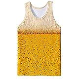MOTOCO Herren's Unterwäsche Casual Ärmel T-Shirt Ärmelloses T-Shirt Ärmellos Kurzarm Top(L,Gelb)