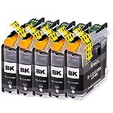 AfiD 5er Set Druckerpatronen zu Brother LC-223 Black für DCP-J 4120 DW DCP-J 562 DW MFC-J 1100 Series MFC-J 1140 W MFC-J 1150 DW MFC-J 1170 DW MFC-J 1180 DWT MFC-J 4420 DW MFC-J 4425 DW