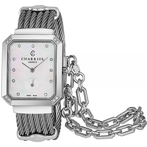 Charriol Women's Diamond Steel Bracelet Swiss Quartz Watch STRESD2.560.001