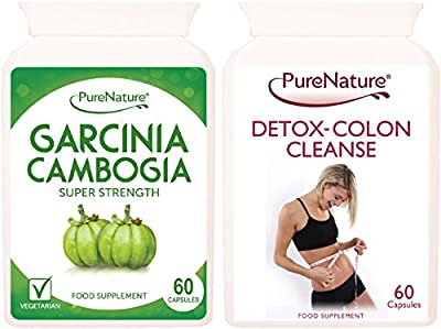 Garcinia Cambogia Triple Strength Fat Blocker Diet & Slimming Pills with Essential Potassium & Calcium for Rapid Absorption Plus Detox Colon Cleanse-Special 120 Capsule Twin Pack from Distributed by Be-Beautiful-Online
