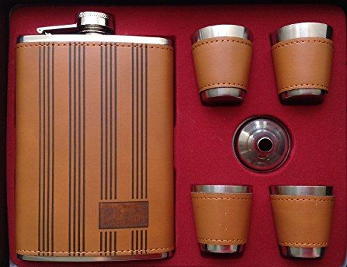Original GMMH Flachmann Set LN 35-29a Taschenflasche Edelstahl mit Schraubverschl?uß Taschenflachmann Flask 240 ml