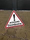 Schild Aufsteller - Achtung Dachlawine/Dreieck 50x46cm - Direktdruck auf 4mm starker AluDibond Verbundplatte - freistehend aufstellbar