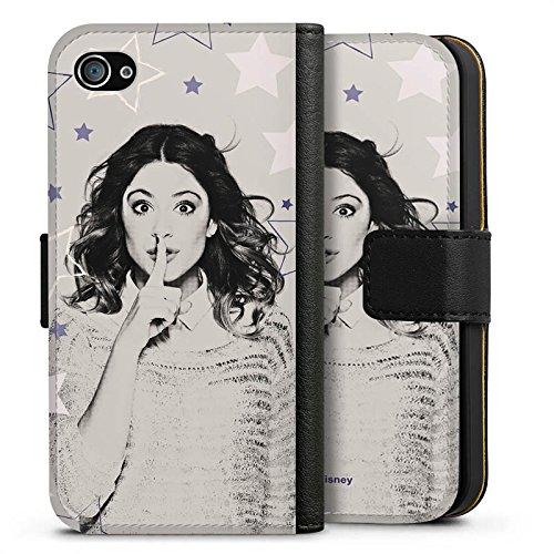 Apple iPhone X Silikon Hülle Case Schutzhülle Disney Violetta Merchandise Fanartikel Sideflip Tasche schwarz