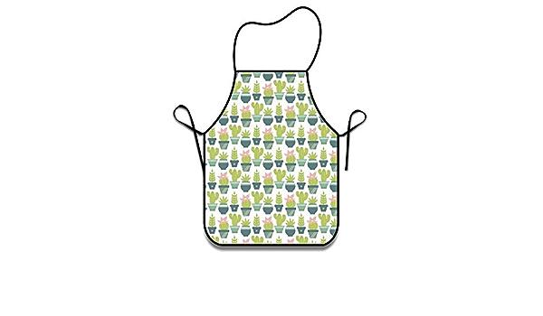 N\A Grembiuli Cactus Grembiuli Divertenti per Donna Uomo Grembiule da Cuoco con Grembiule da Tasca per Cucinare BBQ da Forno