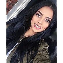 Wansi Lady S New beauty serie di alta qualità nero naturale Synthentic  fibra parrucca capelli lisci 28708a01edca