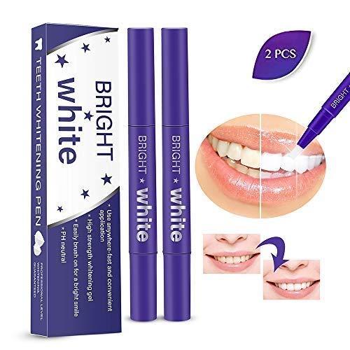 2 Stück Zahnaufhellungsstift professioneller, heller Aufhellungsstift, Aufhellungsbehandlungen, keine Empfindlichkeit, reisefreundlich, schönes, brillantes Lächeln, effektiv, Flecken entfernen -