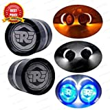 #1: 3C Handle Bar End LED Bike Turn Signal Indicator Blue Light Royal Enfield Bullet