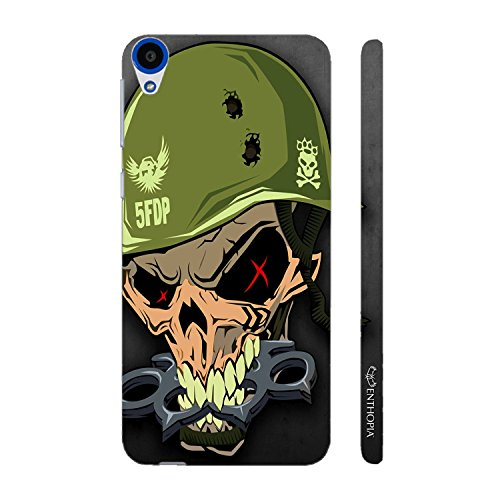 Enthopia Designer Hardshell Case MILITARY SKULL Back Cover for HTC Desire 820  available at amazon for Rs.95