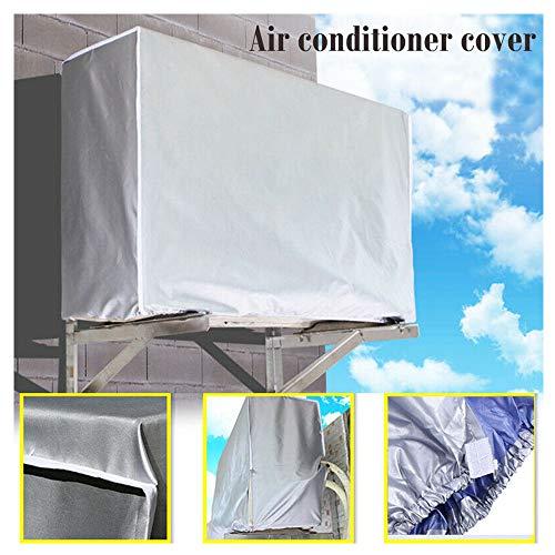 Klimaanlage Abdeckung Wasserdicht Staubdicht Sonnencreme Außen Anti-Schnee Mini Split System Klimaanlage Protector für Haus (Silber)