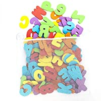 Meifyomng 98 Bath Letters and Numbers Toys - Suitable for Kids & Babies Bathtub Letters Number for Toddlers, Organizer Net Bag for Baby Bath Toys