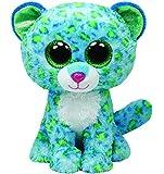 Ty Beanie Boos Glubschi Leona Leopard blau grün 15cm 24cm 42cm Plüsch Stofftier