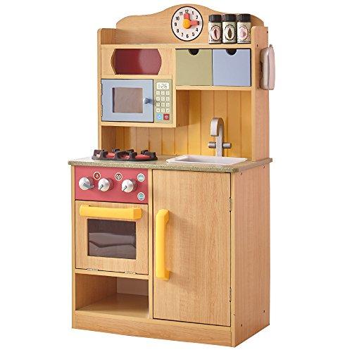 Cocina juguete maderaclara accesorios Teamson KidsTD-11708A
