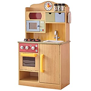 Cocina de juguete en maderaclara con accesorios de Teamson KidsTD-11708A , Modelos/colores Surtidos, 1 Unidad