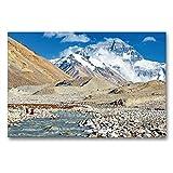 Il Gigante Mount Everest dal Campo di Base in Tibet, 90x60 cm