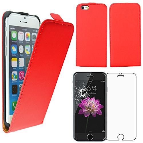 """ebestStar - pour Apple iPhone 6S 6 Plus écran 5,5"""" - Housse Coque Etui à rabat PU cuir ULTRA FIN (ultra slim case) + Film protection écran en VERRE Trempé, Couleur Bleu [Dimensions PRECISES de votre a Rouge"""