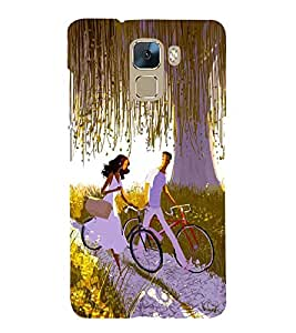 Vizagbeats bicycling lovers Back Case Cover for Huawei Honor 7