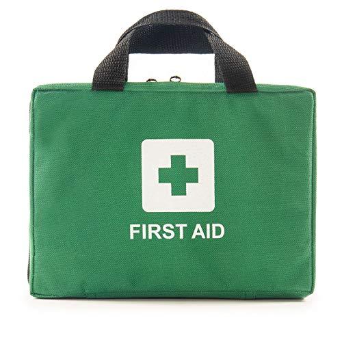 Home Treats Essential Erste-Hilfe-Tasche, 210 Teile Zubehör inkl. Notfalldecke, Eisbeutel, Augenwischer, Verbanden, Pflaster, Wundpolster, Augenpolster, Schere, Pinzette, Handschuhe - Bandage Box Kit