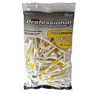 "Pride PTS Wooden Golf Tee's (2.3/4"") (2 3/4""), Bag of 100, Yellow (B002BTM03I) 