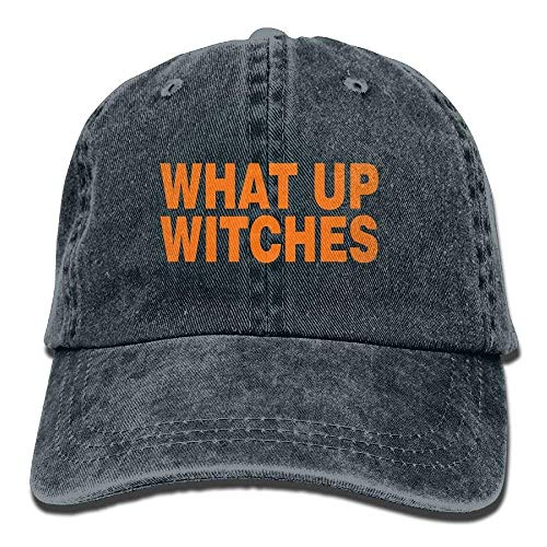 Aeykis Best Men's What Up Witches Halloween Washed Cotton Baseball Multicolor Adjustable Cap ABCDE11813